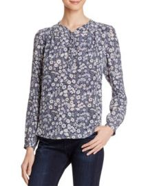 Rebecca Taylor Laine Floral Print Silk Blouse at Bloomingdales