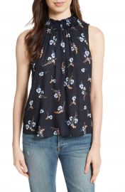 Rebecca Taylor Natalie Fleur Silk Top at Nordstrom