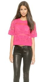 Rebecca Taylor Patch Lace Top at Shopbop