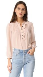 Rebecca Taylor Pin Dot Ruffle Top at Shopbop