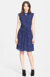 Rebecca Taylor Pinwheel Posy Floral Print Silk Dress at Nordstrom
