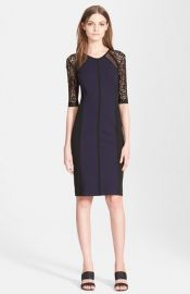 Rebecca Taylor Ponte andamp Lace Sheath Dress at Nordstrom