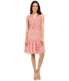 Rebecca Taylor Provence Block Print Sleeveless Dress Red Combo at 6pm