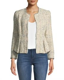 Rebecca Taylor Rainbow Tweed Peplum Jacket at Neiman Marcus