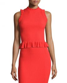 Rebecca Taylor Ribbed Top at Neiman Marcus