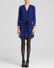 Rebecca Taylor Shirt Dress - Ink Dot Print Silk at Bloomingdales