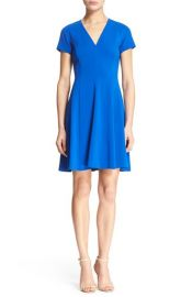 Rebecca Taylor Short Sleeve Fit and Flare Dress at Nordstrom