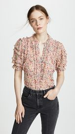 Rebecca Taylor Short Sleeve Margo Floral Top at Shopbop