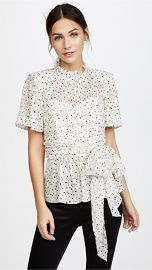 Rebecca Taylor Short Sleeve Star Tie Top at Shopbop