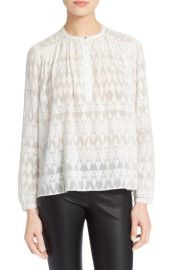 Rebecca Taylor Silk and Cotton Top at Nordstrom