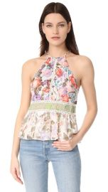 Rebecca Taylor Sleeveless Mixed Print Tank at Shopbop