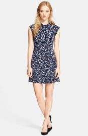 Rebecca Taylor Sleeveless Mock Neck Dress at Nordstrom