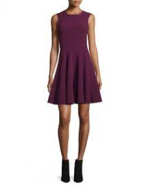 Rebecca Taylor Sleeveless Suiting Circle Dress  Sugar Beet at Neiman Marcus