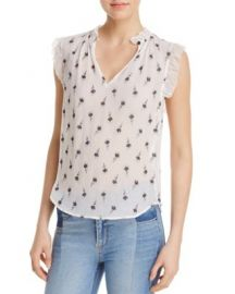 Rebecca Taylor Sleeveless Tulip Print Top at Bloomingdales