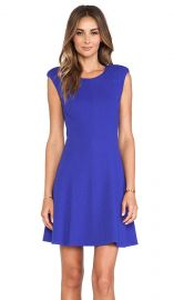 Rebecca Taylor Textured Ponte Dress in Royal  REVOLVE at Revolve