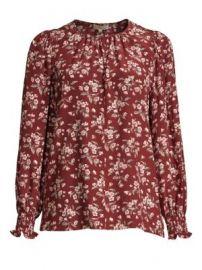 Rebecca Taylor Tilda Floral Silk Top at Saks Fifth Avenue