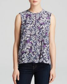 Rebecca Taylor Top - Sleeveless Blossom Print Silk at Bloomingdales