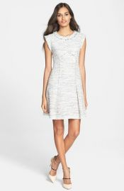 Rebecca Taylor Tweed A-Line Dress at Nordstrom