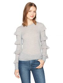 Rebecca Taylor Women s Delicate Ruffle Pullover at Amazon