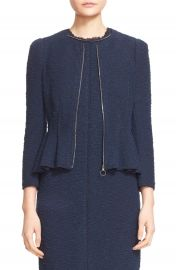 Rebecca Taylor Zip Front Boucl   Tweed Jacket at Nordstrom