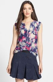 Rebecca Taylor and39Rose Gardenand39 Print Silk Top at Nordstrom