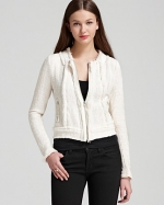 Rebecca Taylor white tweed jacket at Bloomingdales