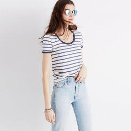Recycled Cotton Ringer Tee Harmon Stripe at Madewell