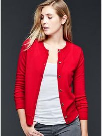 Red Cardigan at Gap