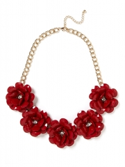 Red Jumbo Bloom Necklace at Bauble Bar