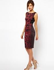 Red Leopard Dress by Karen Millen at Asos