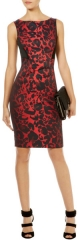 Red Leopard Print Dress at Karen Millen