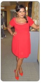 Red Maternity Dress at Salvador Perez