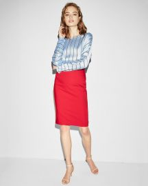 Red Pencil Skirt at Express