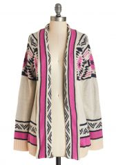 Red Rock Canyon Cardigan in Fuchsia at ModCloth