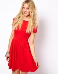 Red Skater Dress at Asos
