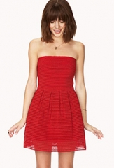Red Strapless Dress at Forever 21