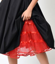 Red Tulle Petticoat at Unique Vintage