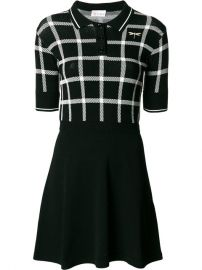 Red Valentino Check Flared Dress at Farfetch