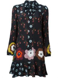 Red Valentino Floral Print Shirt Dress - Changing Room at Farfetch