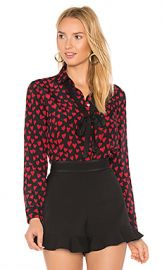 Red Valentino Heart Print Shirt in Black from Revolve com at Revolve