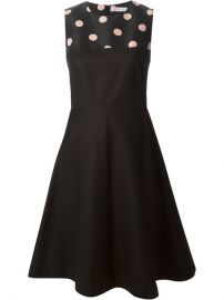 Red Valentino Polka Dot Panel Dress - at Farfetch