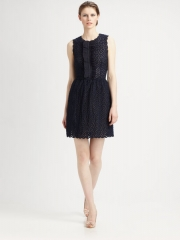 Red Valentino black ruffle front dress at Saks Fifth Avenue