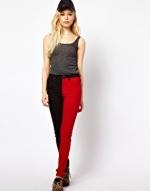 Red and black jeans at ASOS at Asos