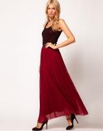 Red and black maxi dress at Asos