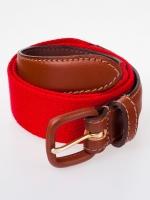 Red and brown belt at American Apparel at American Apparel