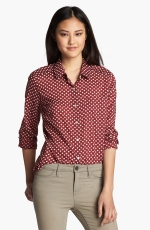 Red apple print shirt at Nordstrom