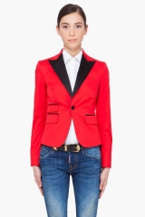 Red blazer by DSquared at SSENSE