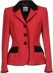 Red blazer by Moschino at Net A Porter