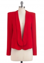Red blazer from Modcloth at Modcloth