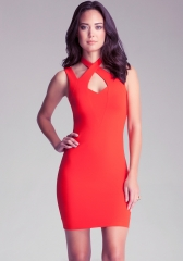 Red bodycon dress  at Bebe